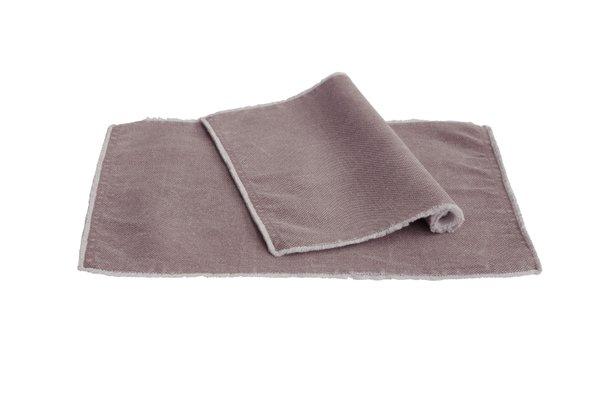 Pichler Tischset Suna Baumwolle Farbe grau, Farbbezeichnung Mauve ME 33*48 cm   Set von 2 Stück !