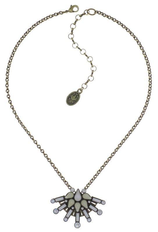 Konplott Kette Halskette Geisha Size S weiss creme  - innocent for now - antique brass