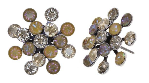 Konplott Magic Fireball Ohrringe Ohrstecker beige antique silver Kollektion Frühling 2021