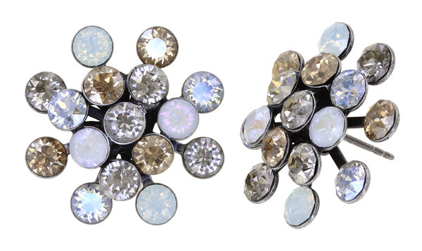 Konplott Magic Fireball Ohrringe Ohrstecker weiss grau Farbbezeichnung white/grey antique silver Kollektion Frühling 2021