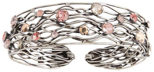 Konplott Armreif Cages beige/pink antique silver Design by Miranda Konstantinidou
