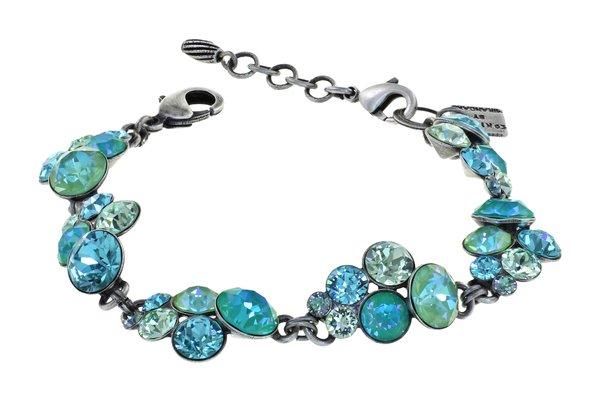 Konplott Armband Petit Glamour türkis hellgrün, Farbbezeichnung minty fresh, auf antique silver by Miranda Konstantinidou