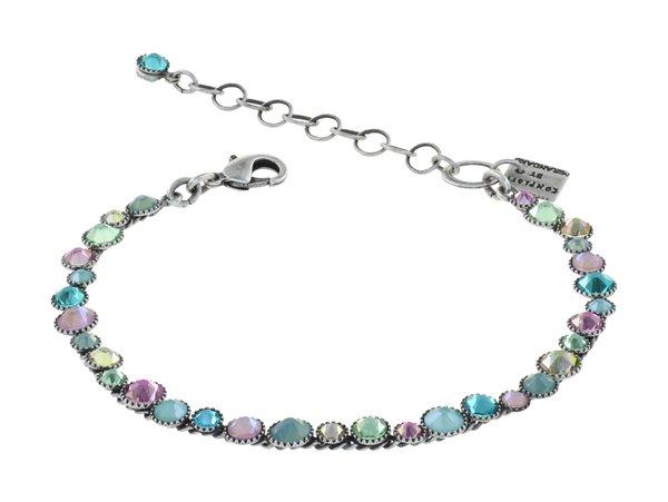 Konplott Armband Water Cascade in mint, rosa, hellgrün, Farbbezeichnung Miami Ice, auf antique silver