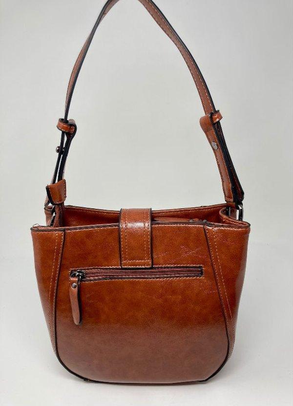 Handtasche in U-Form rotbraun