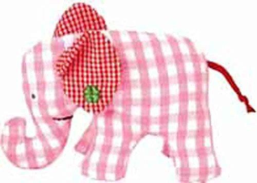 Käthe Kruse Mini Elefant pink kariert Vichy Karo