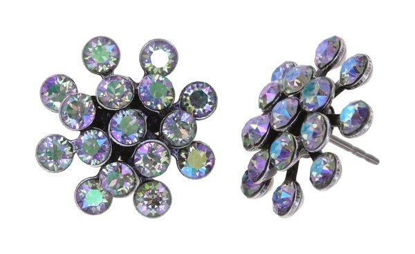 Konplott Mini Magic Fireball Ohrringe Ohrstecker lila vitrail Farbbezeichnung lila crystal paradise shine antique silver Kollektion Frühling 2021