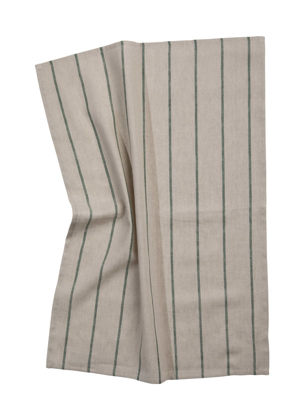 Pichler Geschirrtuch Lincot Halbleinen 50 / 70 cm natur mit grünen Streifen grün gestreift (Farbbezeichnung pinie )