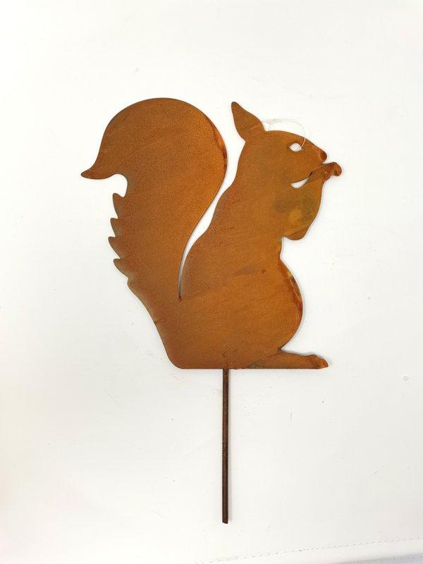 Rost Gartenstecker Eichhörnchen Set von 2 Stück cultus Nature