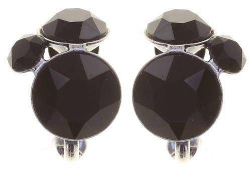 Konplott Disco Star Ohrringe Clips Ohrclips schwarz Farbbezeichnung pure black antique silver
