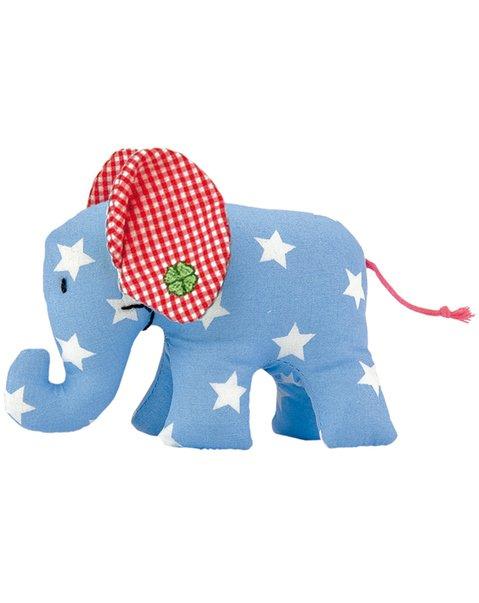 Käthe Kruse Elefant hellbau mit weissen Sternchen Rassel