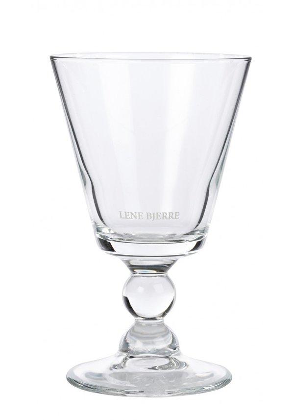 Glas Weinglas Weißwein Kollektion Agnes Lene Bjerre klar mit Label