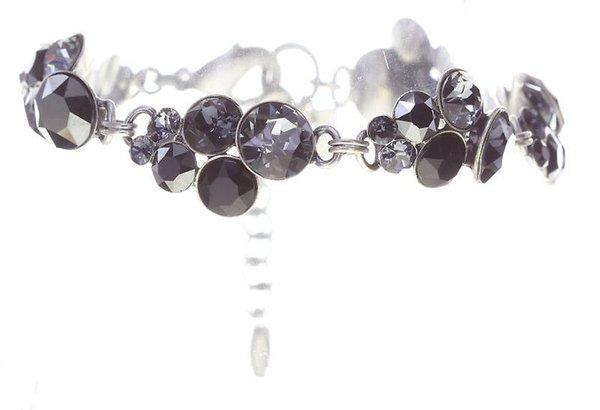 Konplott Armband Petit Glamour black (schwarz grau) by Miranda Konstantinidou mit Swarovski Elementen
