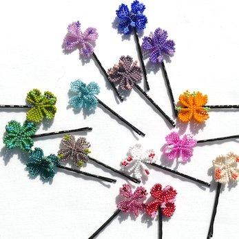 Fair Trade Haarspange in Blütenform mama afrika spiritwork Haarspange