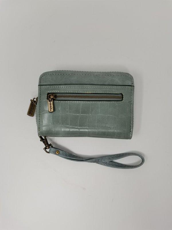 Handliches Portemonnaie in mintgrün mit Handschlaufe