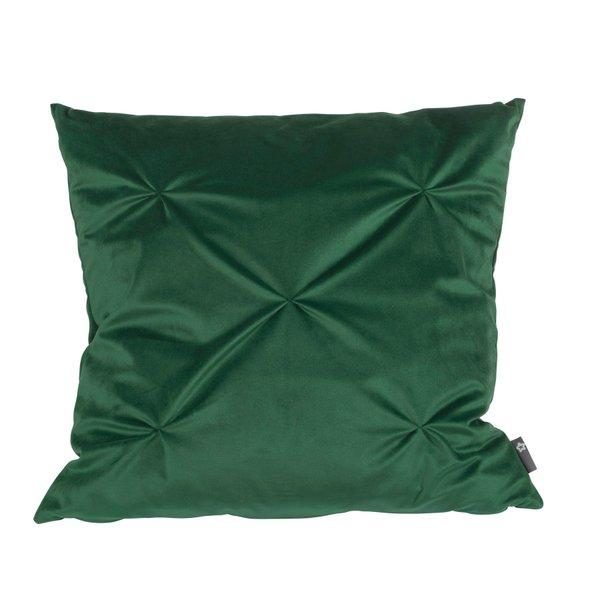 Pichler Tartufo Kissenhülle grasgrün GN dunkelgrün samtweich 40*40 cm mit Reissverschluss, originelle Steppung