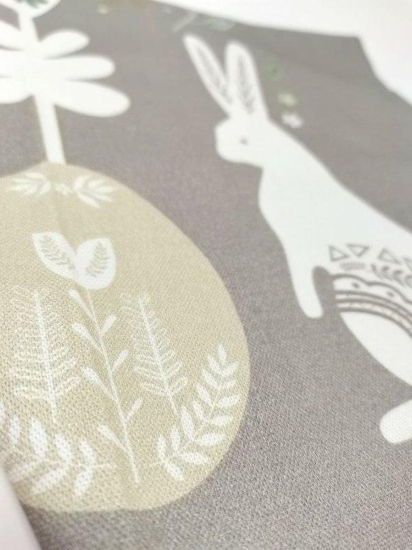 Pichler Geschirrtuch Matti 2 Hasen auf grauem Grund Ostern