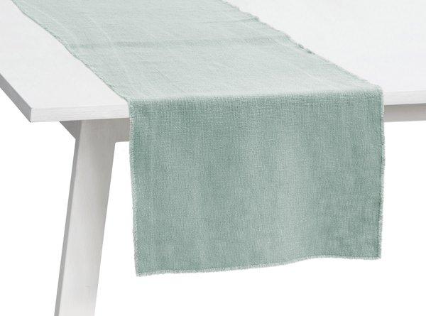 Pichler Tischläufer Gedeckläufer Lasse Farbe cloud (mint) CD GU 50*150 cm  Baumwolle Modal Leinen