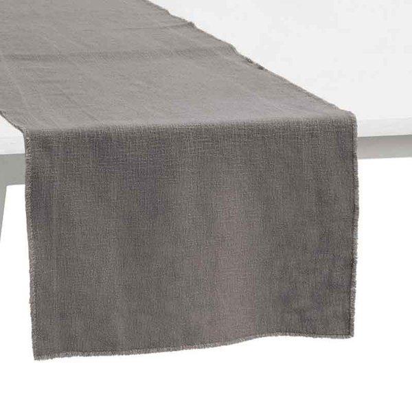 Pichler Tischläufer Gedeckläufer Lasse Farbe grau GU 50*150 cm  Baumwolle Modal Leinen