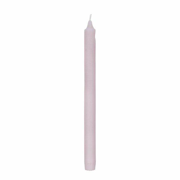 Lene Bjerre Stabkerze Tafelkerze spitz Rustic 28 cm Farbe soft pink rosa