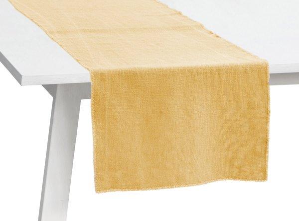 Pichler Tischläufer Gedeckläufer Lasse Farbe messing MS 50*150 cm  Baumwolle/Modal/Leinen