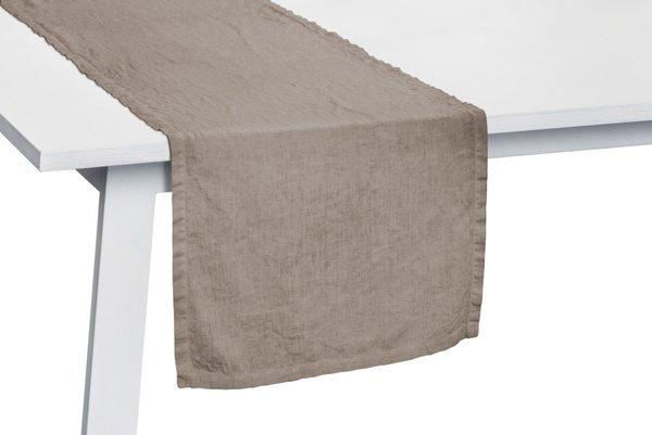 Pichler Tischläufer Gedeckläufer Liska Leinen Farbe taupe TP 50*150 cm