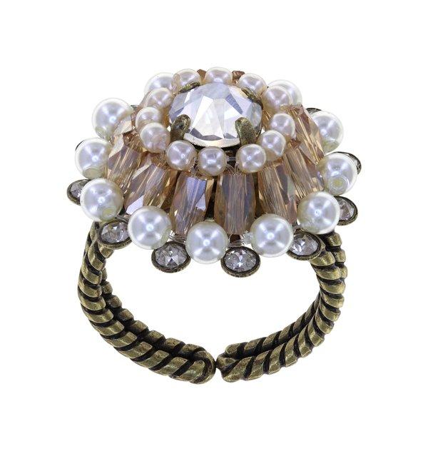 Konplott Ring Kollektion Soul of Thorns Farbbezeichnung weiss beige