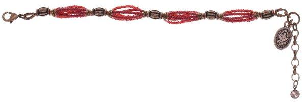 Konplott African Glam Armband weinrot / braun auf antique silver