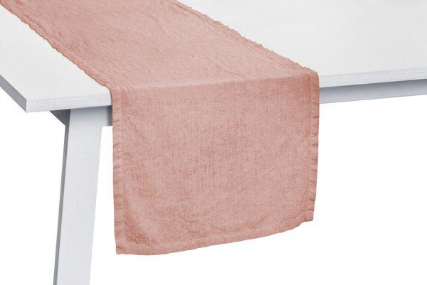 Pichler Tischläufer Gedeckläufer Liska Leinen Farbe Blossom rosa BM 50*150 cm