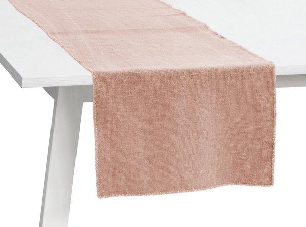 Pichler Tischläufer Gedeckläufer Lasse Farbe nude rosa ND 50*150 cm Baumwolle Modal Leinen