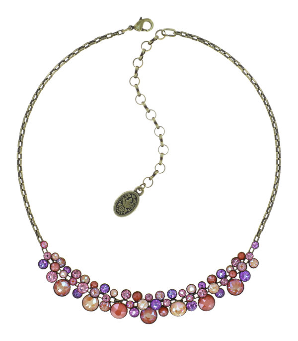 Konplott Collier Kette Water Cascade Candied in multi orange, rosa, lila, rose auf antique brass Frühling Sommer 2021