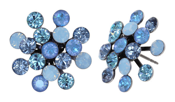 Konplott Magic Fireball Ohrringe Ohrstecker hellblau Farbbezeichnung blue antique silver Kollektion Frühling 2021