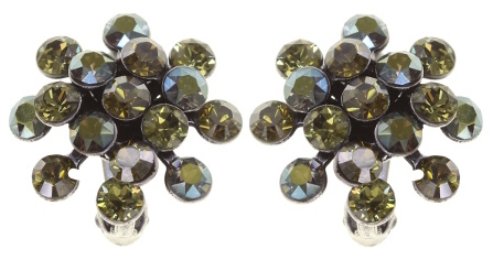 Konplott Mini Magic Fireball Ohrringe Clips Ohrclips olivgrün Farbbezeichnung olivia antique silver