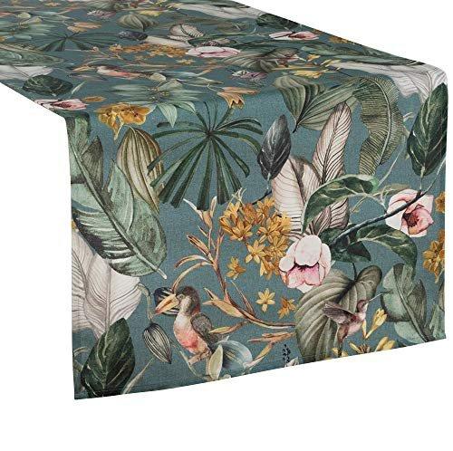 Pichler Tischläufer Delice gemustert Farbe eukalyptus grün 50 * 150 cm