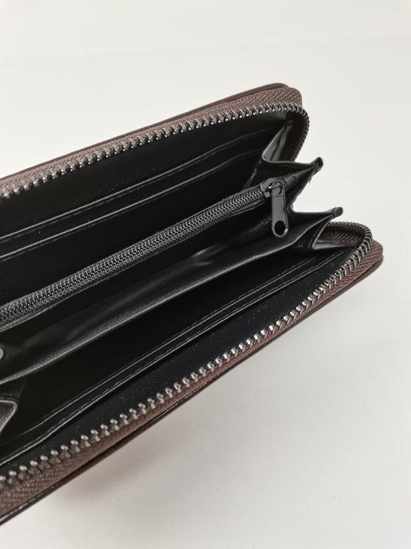 Portemonnaie in schokobraun, handlich