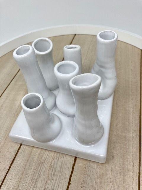 Minivasen Bianco Keramik weiss glasiert