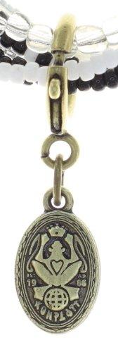 Konplott Armband Bundle Petit Glamour d'Afrique schwarz weiss mit antique brass Schmuckelementen by Miranda Konstantinidou, elastisch