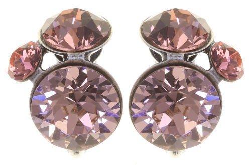 Konplott Disco Star Ohrringe Clips Ohrclips rosa Farbbezeichnung rose pink antique silver