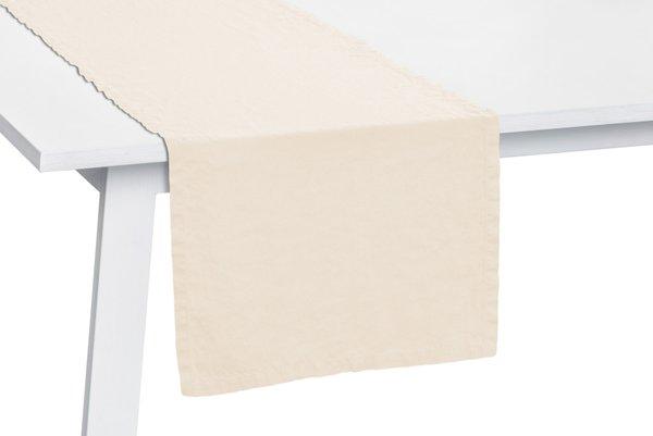 Pichler Tischläufer Gedeckläufer Liska Leinen Farbe wollweiss WS 50*150 cm