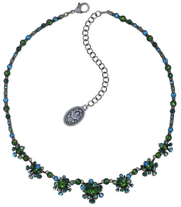 Konplott Kette Alien Caviar Halskette auf antique silver grün/petrol Farbbezeichnung emerald greens