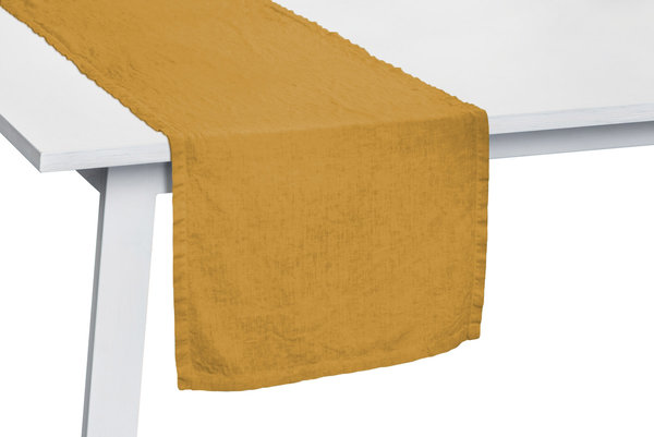 Pichler Tischläufer Gedeckläufer Liska Leinen Farbe Curry gelb CU 50*150 cm