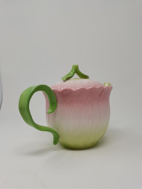 Teekanne Blüte rose grün Dyramics