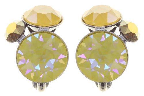 Konplott Disco Star Ohrringe Clips Ohrclips gelb Farbbezeichnung buttercup olivia antique silver