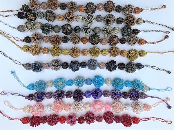 Fair Trade Perlenkette der besonderen Art in beige, schwarz, weinrot oder curry mama afrika spiritwork Kette, Collier Handarbeit