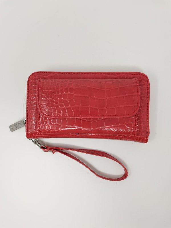 Portemonnaie in Kroko-Leder-Optik, rot